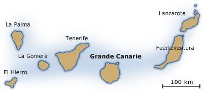carte canaries grande canarie