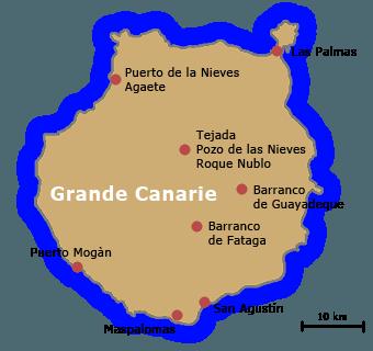 carte grande canarie